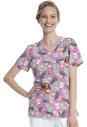 ScrubStar Women's V-neck Top Pua And Hei Hei (WM728X19-MHPH)