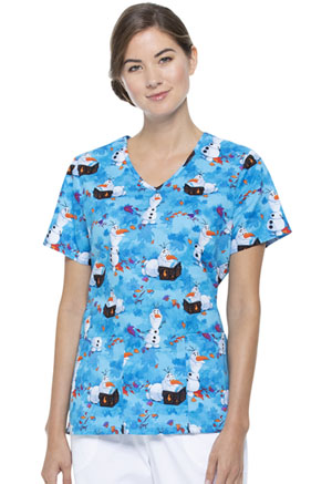 ScrubStar Women's V-neck Top Olaf Spirit (WM728X5-FZWI)