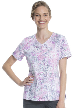 ScrubStar Women's V-neck Top Serpentine Mauve (WM729X5-SPPT)