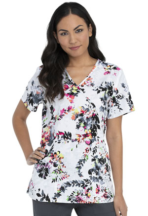 ScrubStar Women's Mock Wrap Top Floral Shadow (WM731X5-FLSO)