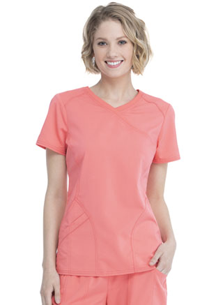 Women's Mock Wrap Top (WM818-CORU)