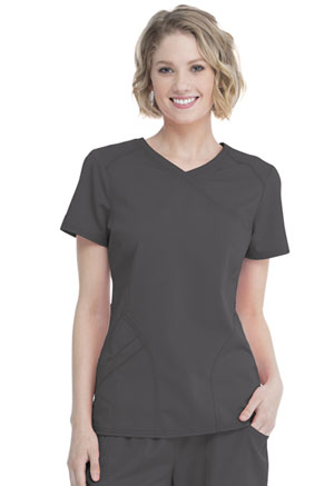 ScrubStar Women's Mock Wrap Top Pewter (WM818-RWWM)