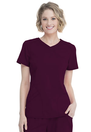 ScrubStar Women's Mock Wrap Top Wine (WM818-WIN)