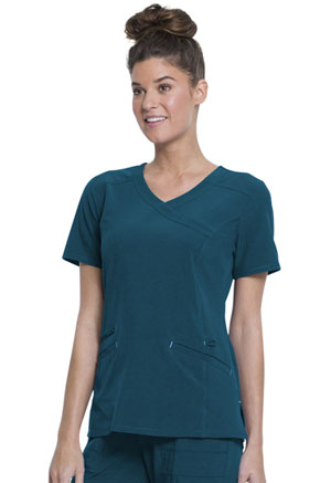 ScrubStar Mock Wrap Top Deep Slate (WM841-DESL)