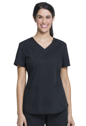 Women's VNeck Top (WM842-BLK)