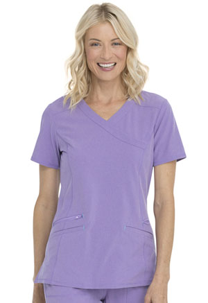 ScrubStar Mock Wrap Top Heather Lavender (WM863-HTLV)