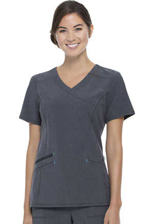 ScrubStar Mock Wrap Top Heather Midnight (WM863-HTMI)