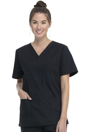ScrubStar Unisex VNeck Top Black (WM872-BLK)