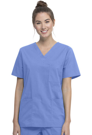 ScrubStar Unisex VNeck Top Ciel Blue (WM872-CIE)