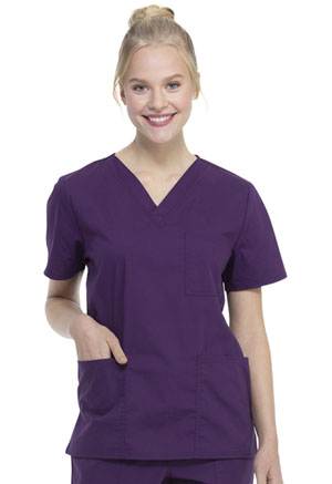 ScrubStar Unisex VNeck Top Eggplant (WM872-EGG)