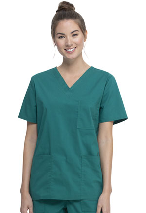 ScrubStar Unisex VNeck Top Hunter Green (WM872-HUN)