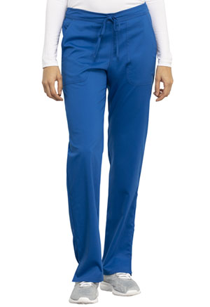 Cherokee Workwear Mid Rise Straight Leg Drawstring Pant Royal (WW005-ROY)