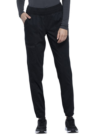 Cherokee Workwear Natural Rise Tapered Leg Jogger Pant Black (WW011-BLK)