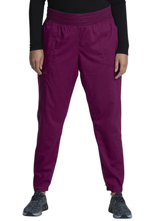 Cherokee Workwear Natural Rise Tapered Leg Jogger Pant Wine (WW011-WIN)