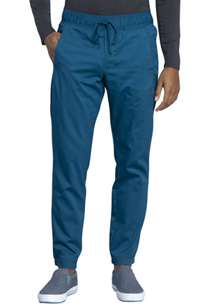 Cherokee Workwear Men's Natural Rise Jogger Caribbean Blue (WW012-CAR)