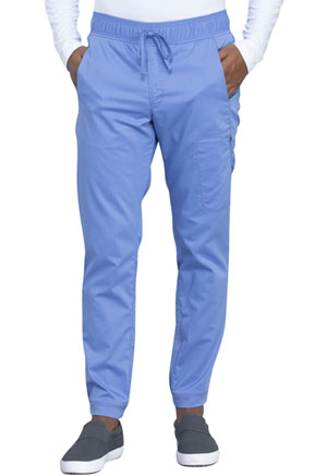 Cherokee Workwear Men's Natural Rise Jogger Ciel Blue (WW012-CIE)