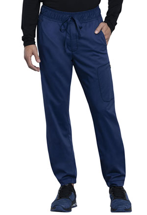Cherokee Workwear Men's Natural Rise Straight Leg Jogger Navy (WW012-NAV)