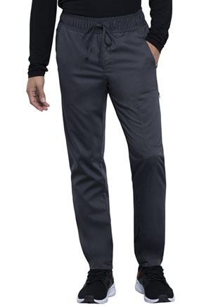 Cherokee Workwear Men's Natural Rise Straight Leg Jogger Pewter (WW012-PWT)