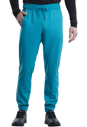 Cherokee Workwear Men's Natural Rise Jogger Teal Blue (WW012-TLB)