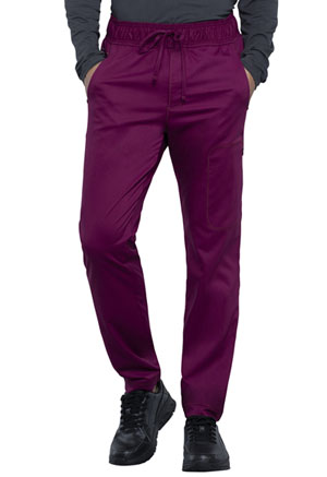 Cherokee Workwear Men's Natural Rise Jogger Wine (WW012-WIN)