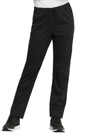Cherokee Workwear Unisex Tapered Leg Drawstring Pant Black (WW020-BLK)
