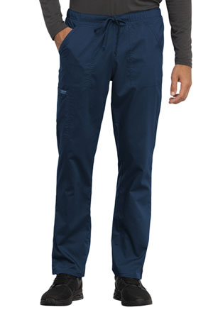 Cherokee Workwear Unisex Tapered Leg Drawstring Pant Navy (WW020-NAV)