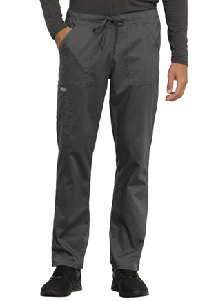 Cherokee Workwear Unisex Tapered Leg Drawstring Pant Pewter (WW020-PWT)