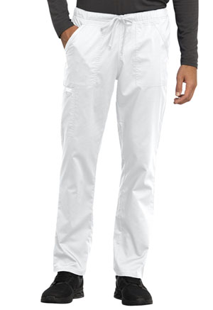 Cherokee Workwear Unisex Tapered Leg Drawstring Pant White (WW020-WHT)