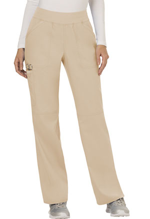Cherokee Workwear Mid Rise Straight Leg Pull-on Pant Khaki (WW110-KAK)