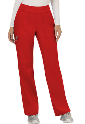 WW Revolution Mid Rise Straight Leg Pull-on Pant (WW110-RED) (WW110-RED)