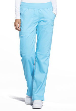 Cherokee Workwear Mid Rise Straight Leg Pull-on Pant Turquoise (WW110-TRQ)