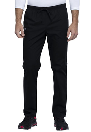 Cherokee Workwear Unisex Pocketless Drawstring Pant Black (WW125-BLK)