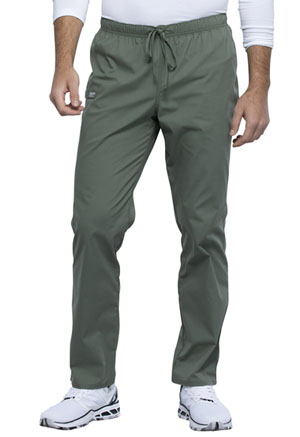 Cherokee Workwear Unisex Pocketless Drawstring Pant Olive (WW125-OLV)