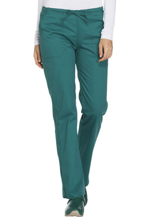 WW Core Stretch Mid Rise Straight Leg Drawstring Pant (WW130-HUNW) (WW130-HUNW)