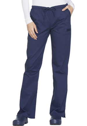 Cherokee Workwear Mid Rise Straight Leg Drawstring Pant Navy (WW130-NAVW)