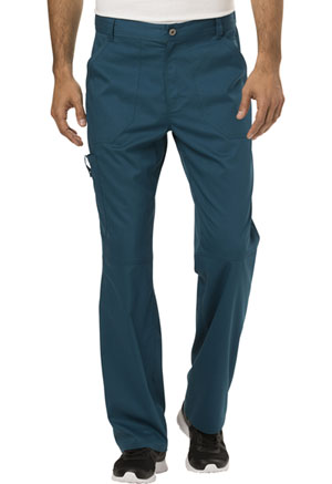 Cherokee Workwear Men's Fly Front Pant Caribbean Blue (WW140-CAR)