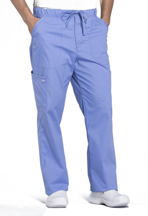 Cherokee Workwear Men's Tapered Leg Drawstring Cargo Pant Ciel Blue (WW190-CIE)