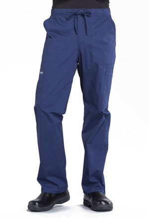 Cherokee Workwear Men's Tapered Leg Drawstring Cargo Pant Navy (WW190-NAV)