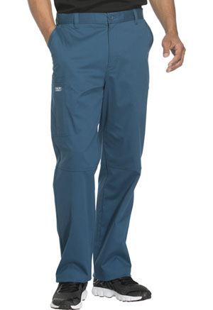 Cherokee Workwear Men's Fly Front Pant Caribbean Blue (WW200-CARW)