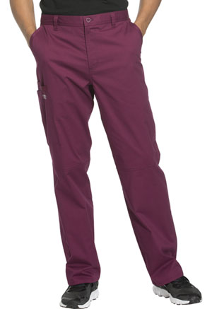 Cherokee Workwear Men's Fly Front Pant Wine (WW200-WINW)