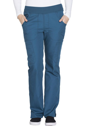 Cherokee Workwear Mid Rise Straight Leg Pull-on Cargo Pant Caribbean Blue (WW210-CARW)