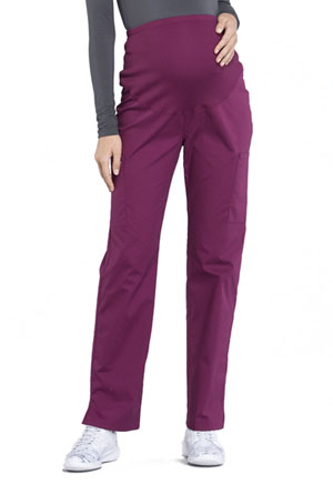 b482ff64d895c Cherokee Workwear Maternity Straight Leg Pant Wine WW220-WIN