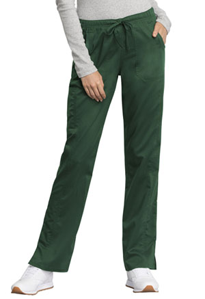 Cherokee Workwear Mid Rise Straight Leg Drawstring Pant Hunter Green (WW235AB-HUN)