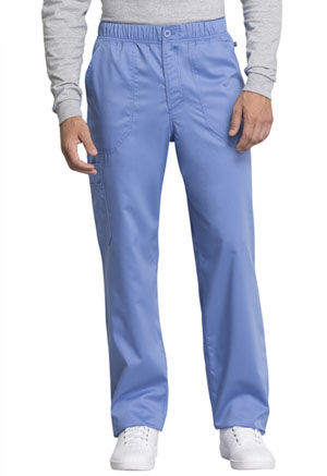 Cherokee Workwear Men's Mid Rise Straight Leg Zip Fly Pant Ciel Blue (WW250AB-CIE)