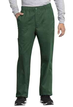 Cherokee Workwear Men's Mid Rise Straight Leg Zip Fly Pant Hunter Green (WW250AB-HUN)