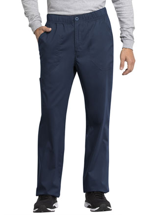 Cherokee Workwear Men's Mid Rise Straight Leg Zip Fly Pant Navy (WW250AB-NAV)