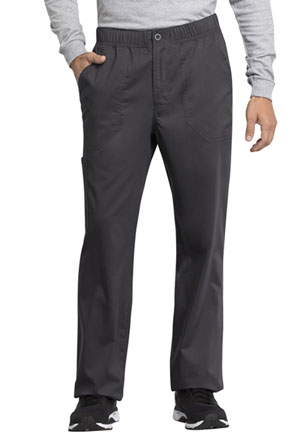 Cherokee Workwear Men's Mid Rise Straight Leg Zip Fly Pant Pewter (WW250AB-PWT)
