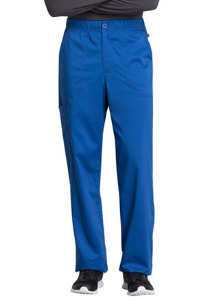 Cherokee Workwear Men's Mid Rise Straight Leg Zip Fly Pant Royal (WW250AB-ROY)