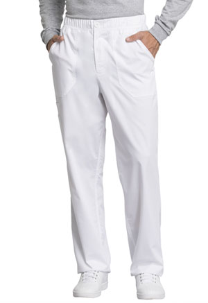 Cherokee Workwear Men's Mid Rise Straight Leg Zip Fly Pant White (WW250AB-WHT)