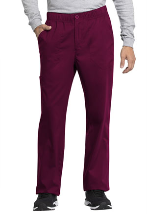 Cherokee Workwear Men's Mid Rise Straight Leg Zip Fly Pant Wine (WW250AB-WIN)
